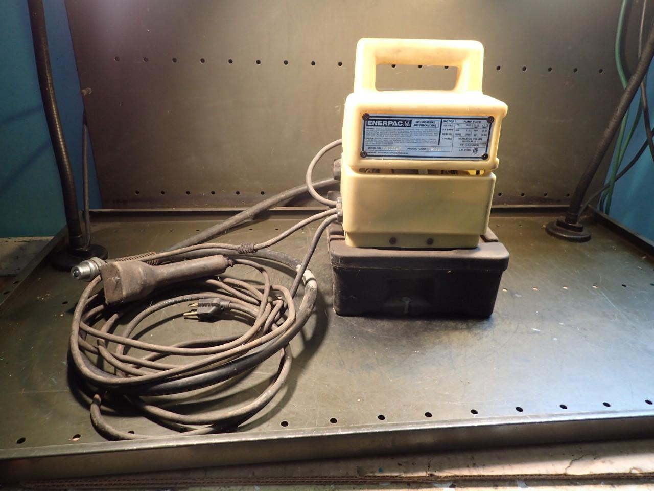 Enerpac PUD1100B Portable Electric Hydraulic Pump: 120 VAC, 10,000 10K PSI, Used