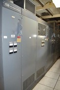 ALLEN BRADLEY CONTROLLOGIX CABINET WITH LOGIX 5555 CONTROLLER AND 4x AVTRON ADDVANTAGE-32 DC DRIVES (NOVA SCOTIA)