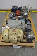 2 PALLETS OF ASSORTED ELECTRIC AC MOTORS, GENERAL ELECTRIC, BALDOR, MARATHON, SEW EURODRIVE (OHIO)