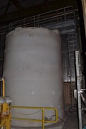 CHEMICAL PULP SILO PLASTIC 392,000L TANK WITH BALL AND KNIFE GATE VALVES