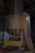 STAINLESS PULPER MIXING TANK WITH AGITATOR, WESTINGHOUSE 125HP MOTOR