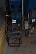 COMET FWS3550 WATER PLUNGER PUMP, 5HP AC MOTOR, CART, HOSE REEL