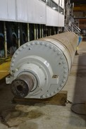 CERAMIC ROLL PRESS SECTION STAINLESS SHELL, GRANITE COATING 29FT #339 PAPER MACHINE ROLL