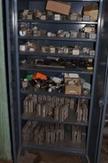 STRONG HOLD CABINET WITH CONTENTS - FUSES, THYRISTOR STACKS, FUSE HOLDERS