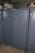 STRONG HOLD CABINET WITH CONTENTS - SLC150 CONTROLLERS, RELAYS, CONTACTORS, THYRISTORS