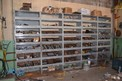 SHELVING WITH STAINLESS AND STEEL PIPE FITTINGS, VALVES