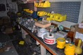 CONTENTS OF ROOM - MOTOR STARTERS, CIRCUIT BREAKERS, FUSES, CONDUIT FITTINGS, SWITCHES, LIGHTING