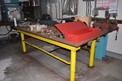 TABLE WITH CONTENTS - WELDING SUPPLIES, TABLE VICE