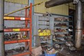 CONTENTS OF SHELVING - BEARINGS, SPROCKETS, SHEAVES, HUBS, PUMP PARTS