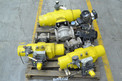 1 PALLET OF ASSORTED STAINLESS PLUG VALVES, 2 IN & 3 IN, XOMOX, TUFLINE, HYTORK