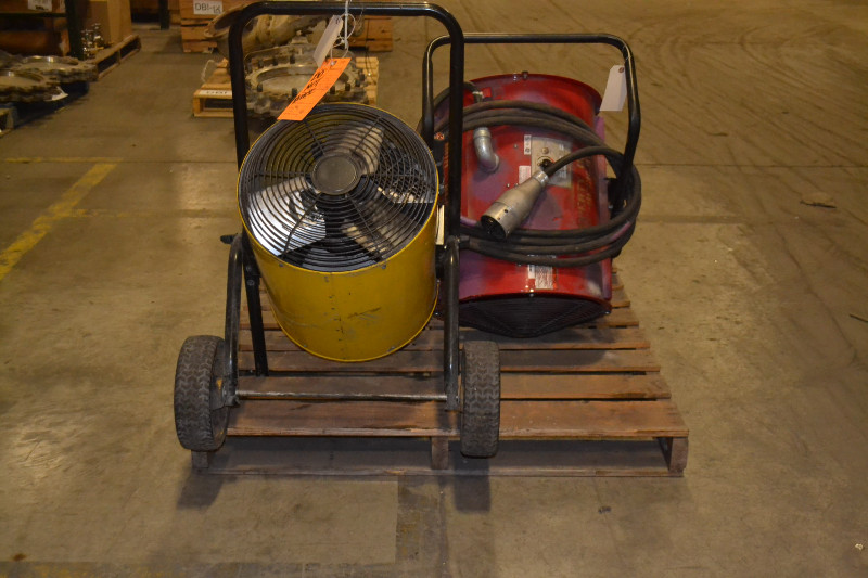1 PALLET OF 2 PORTABLE HEATERS, CHROMALOX, 3PH