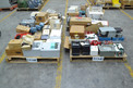 4 PALLETS OF ASSORTED ELECTRONICS, MODULES, RELAYS, CONTROLLERS, FOXBORO, ALLEN BRADLEY, HONEYWELL