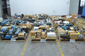 6 PALLETS OF ASSORTED ELECTRONICS, CONTROLLERS, RELAYS, ALLEN BRADLEY, HONEYWELL, GENERAL ELECTRIC