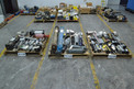 3 PALLETS OF ASSORTED PNEUMATIC CYLINDERS, NUMATICS, FESTO, PARKER, SMC, SCHRADER BELLOWS