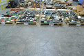 8 PALLETS OF ASSORTED CONTROLS, PUSH BUTTONS, SWITCHES, HONEYWELL, RELIANCE ELECTRIC, ALLEN BRADLEY