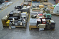 4 PALLETS OF ASSORTED ELECTRONICS, CONTROLLERS, RELAYS, MONITORS, ALLEN BRADLEY, GENERAL ELECTRIC