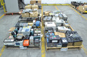 4 PALLETS OF ELECTRONICS, CONTROLLERS, RELAYS, MODULES, ALLEN BRADLEY, ABB, FOXBORO, HONEYWELL