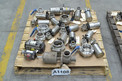 1 PALLET OF ASSORTED STAINLESS SANITARY BUTTERFLY VALVES, ALFA LAVAL, TRI CLOVER, CANDIGRA