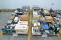 4 PALLETS OF ASSORTED ELECTRONICS, CONTROLLERS, RELAYS, ALLEN BRADLEY, GENERAL ELECTRIC, HONEYWELL