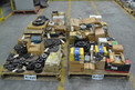 4 PALLETS OF ASSORTED POWER TRANSMISSIONS, COUPLINGS, ROLLER CHAINS, MARTIN, FALK, TSUBAKI, DODGE
