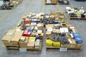 4 PALLETS OF ASSORTED POWER TRANSMISSIONS, COUPLINGS, PULLEYS, ROLLER CHAINS, MARTIN, FALK, TB WOODS