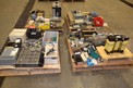4 PALLETS OF ASSORTED TRANSFORMERS, RACKS, CONTROLS, EMERSON, ROCKWELL