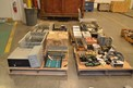 4 PALLETS OF ASSORTED ELECTRICAL, CONTROLS, PLC RACKS, CONTACTORS RELIANCE GE