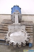 DEZURIK 16 IN PNEUMATIC 150 STAINLESS KNIFE GATE VALVE