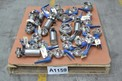 1 PALLET OF ASSORTED STAINLESS SANITARY BUTTERFLY VALVES, ALFA-LAVAL, TRI-CLOVER