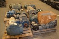 6 PALLETS OF ASSORTED AC / DC MOTORS AND GEAR REDUCERS SEW RELIANCE DEMAG