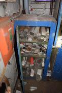 CABINET CONTAINING ASSORTED WELDING RODS TECHALLOY WITH CABINET