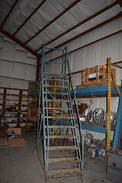 12 STEP STEEL ROLLING LADDER