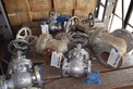 LOT OF ASSORTED TY WEDGE GATE VALVES FROM 2 INCH TO 4 INCH