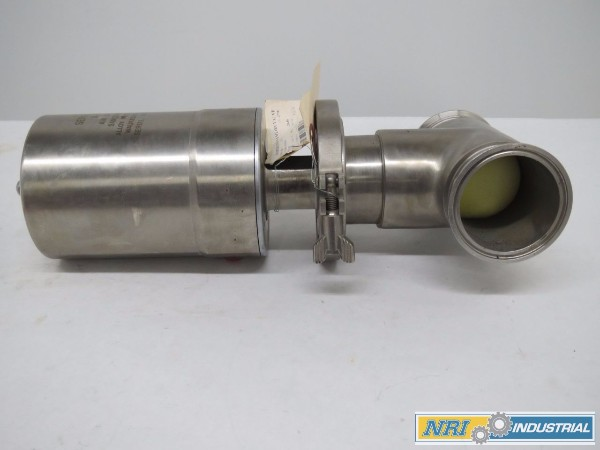 WAUKESHA 08-17 SERIES 600 AIR ACTUATED PNEUMATIC STAINLESS TRI-CLAMP 3IN SANITARY DIVERT VALVE