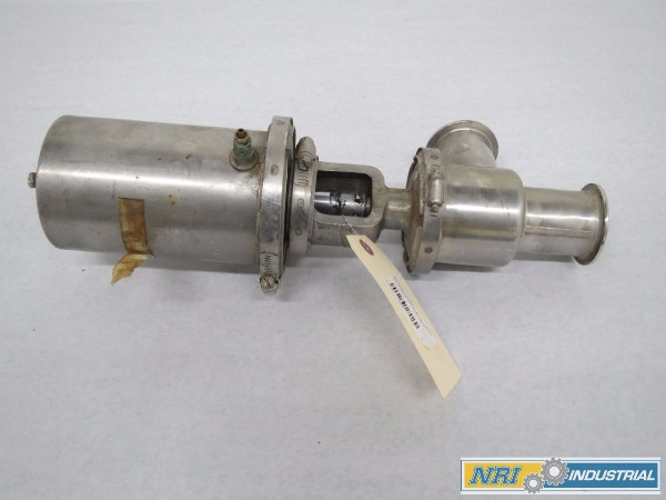 WAUKESHA DIVERT 2 IN PNEUMATIC STAINLESS TRI-CLAMP VALVE