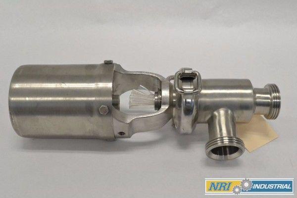 WAUKESHA CHERRY BURRELL 2 WAY 1-1/2IN BS DIVERT 2 IN PNEUMATIC STAINLESS TRI-CLAMP VALVE