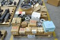 1 PALLET OF ASSORTED POWER TRANSMISSIONS, COUPLINGS, HUBS, SHEAVES, FALK, DODGE RELIANCE, TB WOODS