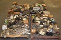 4 PALLETS OF ASSORTED SPROCKETS, GEARS, ROLLER CHAINS, HUBS, OIL SEALS, MARTIN, CR, TSUBAKI, BROWNING