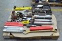 1 PALLET OF ASSORTED HAND TOOLS, WRENCHES, TORCHES, SHANKS, CHUCKS, STANLEY, VICTOR, GARDNER DENVER