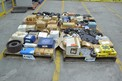4 PALLETS OF ASSORTED POWER TRANSMISSIONS, ROLLER CHAINS, SHEAVES, SPROCKETS, MARTIN, DODGE, TSUBAKI