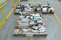 3 PALLETS OF ASSORTED PNEUMATIC CYLINDERS, FESTO, PARKER, BOSCH, SMC, NUMATICS