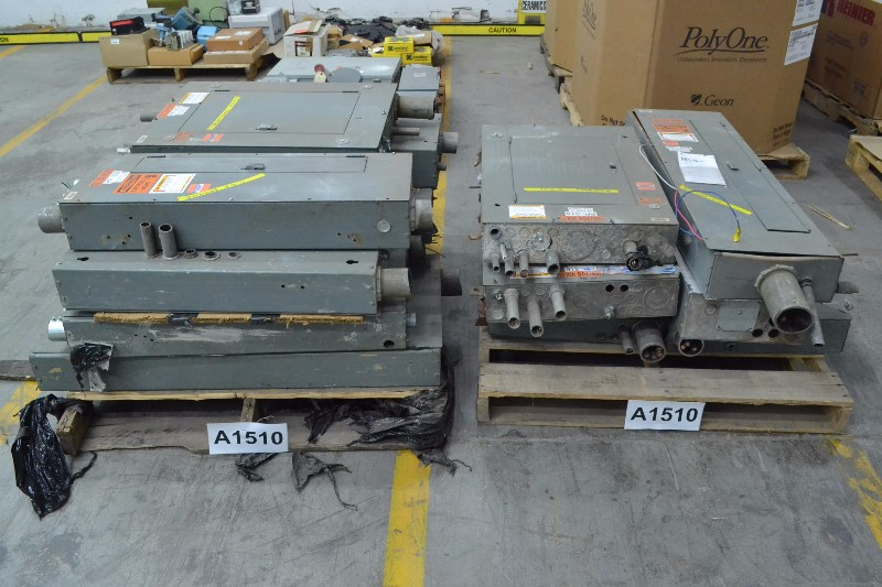 2 PALLETS OF ASSORTED ELECTRICAL DISTRIBUTION PANELS 120/208V-AC, GENERAL ELECTRIC