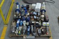 1 PALLET OF ASSORTED HYDRAULIC VALVES, HYDRAULIC PUMPS, PARKER, VICKERS, BOSCH, LIQUIFLO, REXROTH