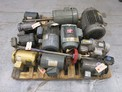 1 PALLET OF ASSORTED AC / DC MOTORS, SEW, BALDOR, MARATHON, 0.5 HP TO 12 HP