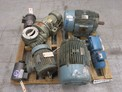 1 PALLET OF ASSORTED AC / DC MOTORS, BALDOR, REULAND, WESTINGHOUSE