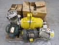 1 PALLET OF ASSORTED AC / DC MOTORS, BALDOR, RELIANCE, GE, SHEPARD NILES