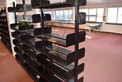 LOT OF DOUBLE SIDED LIBRARY BOOK SHELF