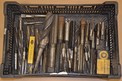 LOT OF ASSORTED HAND REAMERS AND TAPS