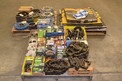 3 PALLETS OF SHEAVES, ROLLER CHAIN, OIL SEALS