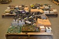 3 PALLETS OF ASSORTED CONTROLS, MODULES, PCB'S